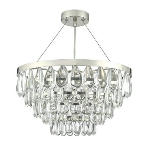Sceptre 3 Light Pendant Polished Chrome Clear